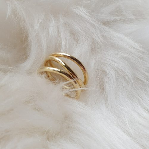 Wellenförmiger Ring in 750 Gold
