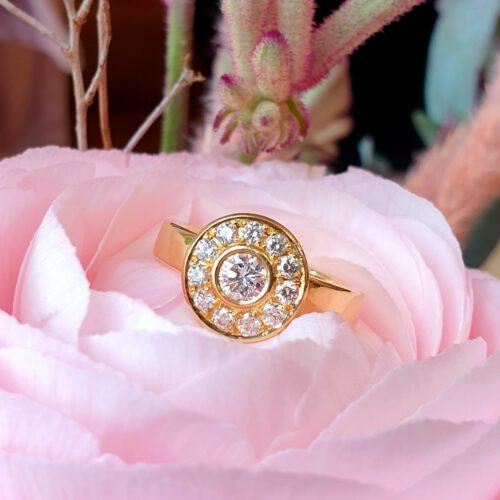 Ring mit Brillanten in 750 Gold